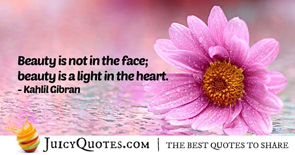 Beauty in the Heart Quote