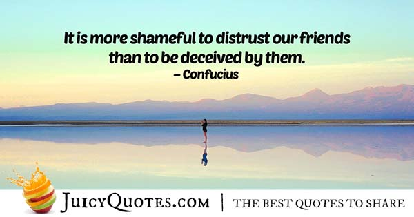 Deceive And Distrust Quote