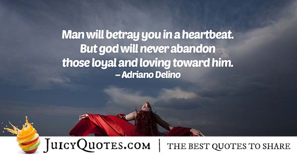 God And Betrayal Quote
