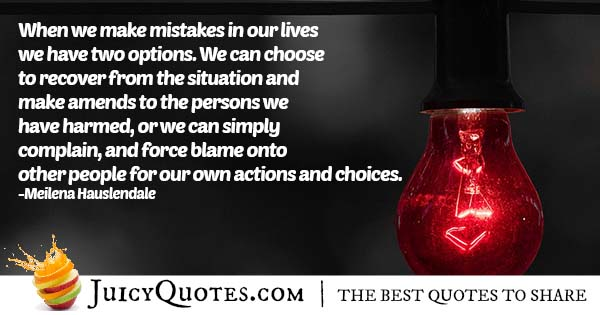 Blaming Other People Quote