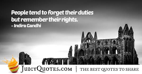 Rights And Duties Quote