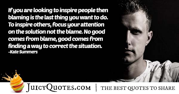 Blaming Others Quote
