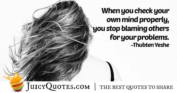 Problems and Blame Quote