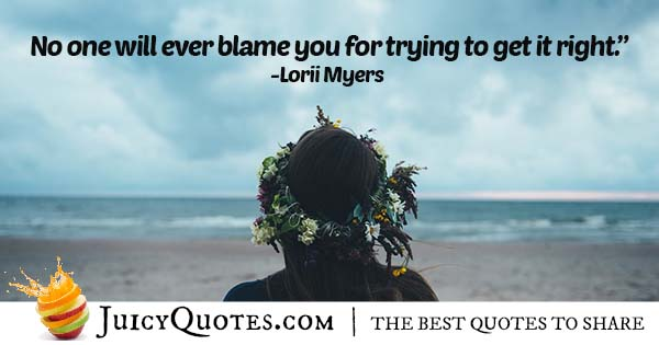 No Blame For Trying Quote
