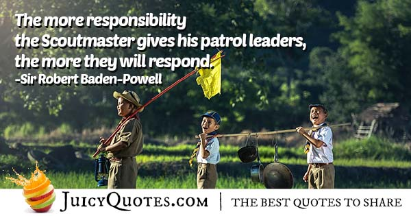 Scout Master and Patrol Leaders Quote
