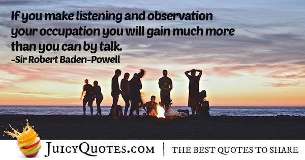 Listening and Observing Quote