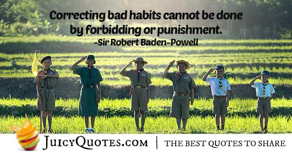 Correcting Bad Habits Quote