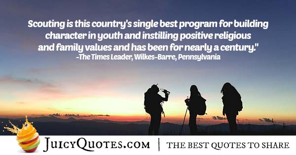 Quote About Scouting Program