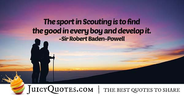 Sport In Scouting Quote
