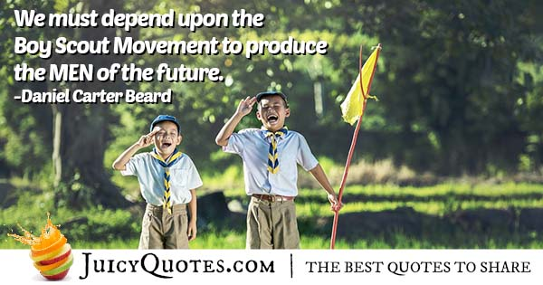 Boy Scout Movement Quote