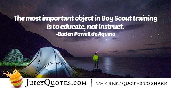 Boy Scout Training Quote