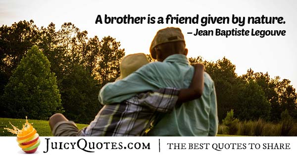 A Brother Is A Friend Quote