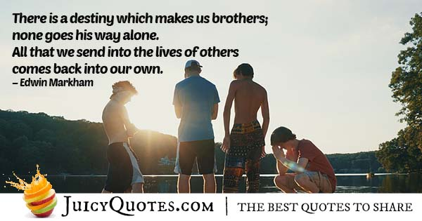 Destiny of Brothers Quote
