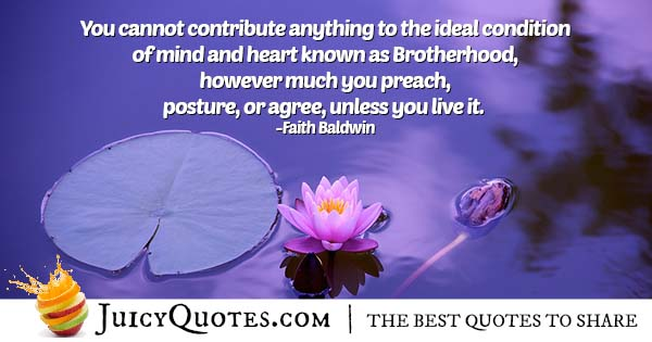 Ideal Brotherhood Quote