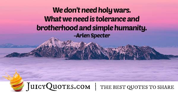 Brotherhood and Humanity Quote