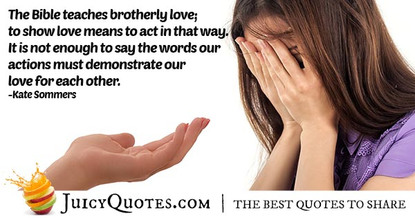 Brotherly Love Quote