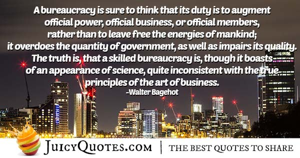 Quote About a Bureaucracy