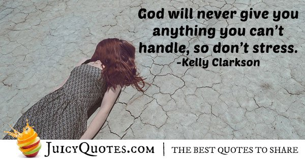 God and Stress Quote