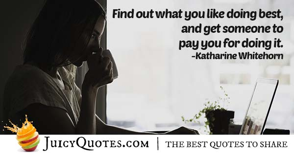Find A Career You Like Quote
