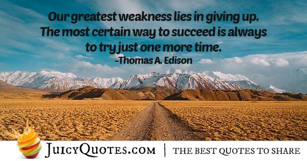 Weakness In Career Quote