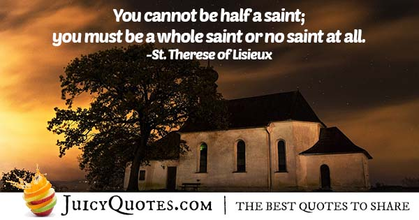 Being a Saint Quote