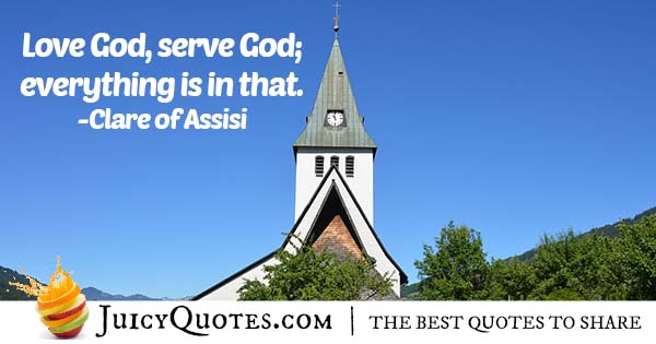 Love and Serve God Quote