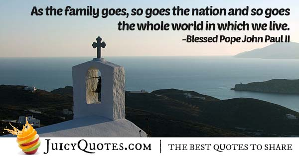 Family and Christianity Quote