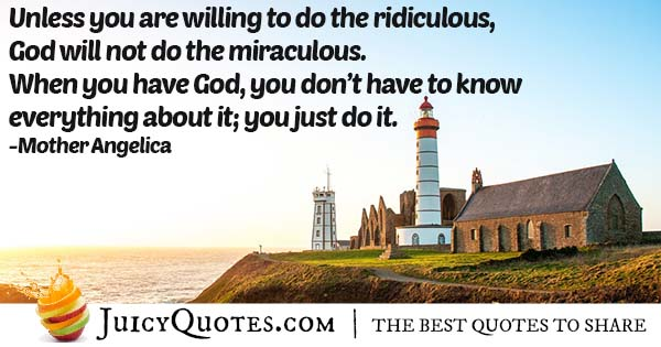 God and Miracles Quote