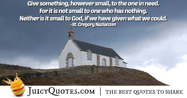Quote About God and Giving