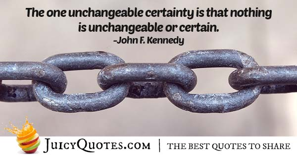 Quote About Certainty