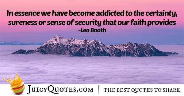 Certainty and Faith Quote