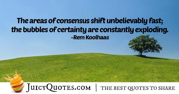 Bubbles of Certainty Quote