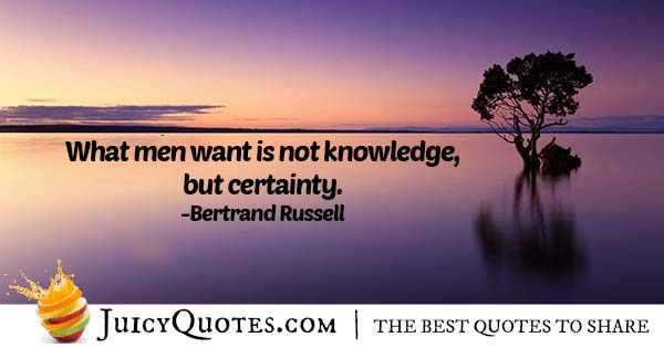 Knowledge and Certainty Quote