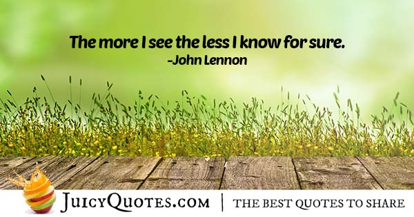 Seeing and Knowing Quote