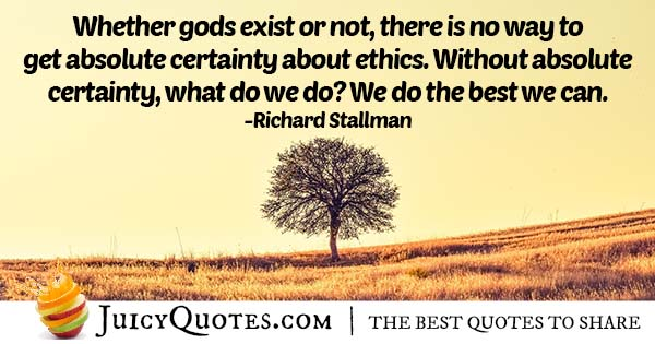 Certainty and Ethics Quote