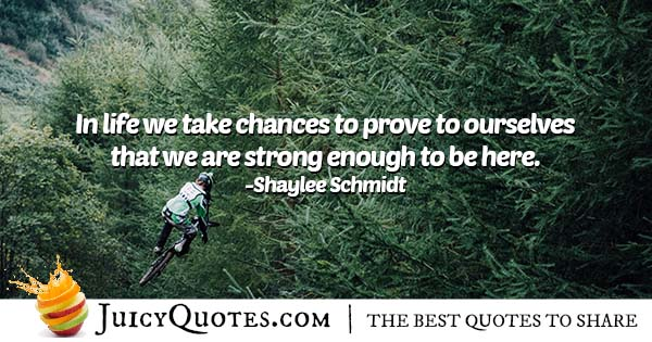 Why We Take Chances Quote