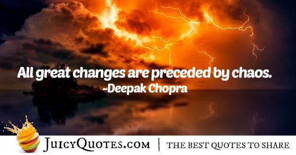 Changes and Chaos Quote