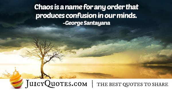 Chaos and Confusion Quote