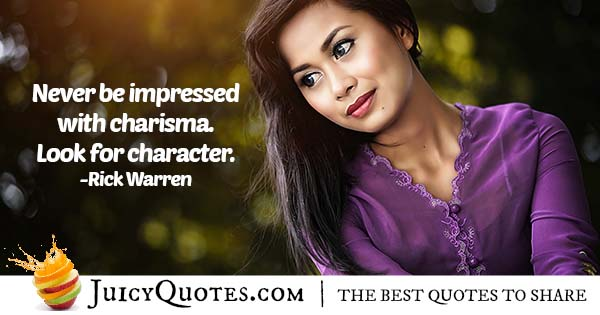 Character VS Charisma Quote