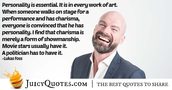 Personality and Charisma Quote