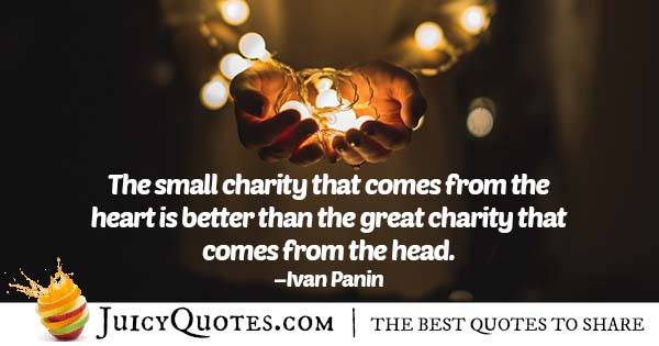 Small and Big Charity Quote