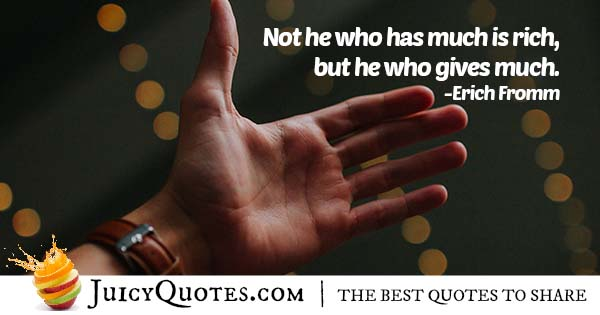 Giving Much Quote
