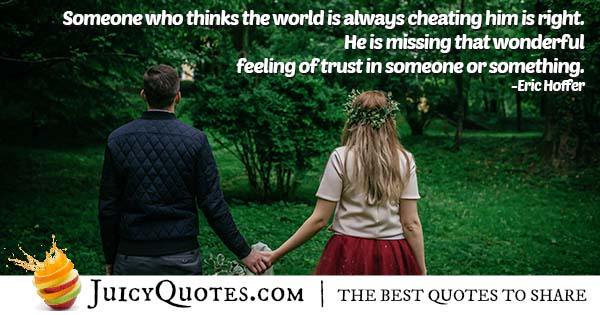 World Is Cheating Quote
