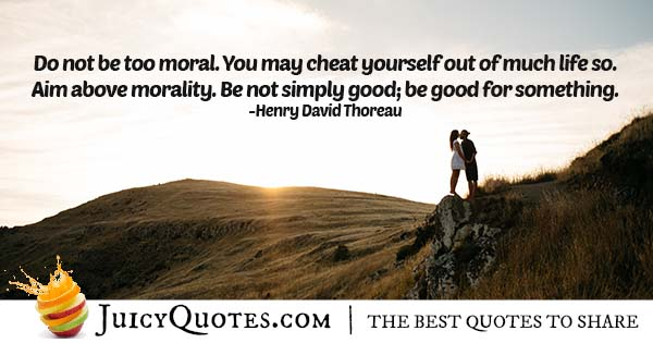 Aim Above Morality Quote