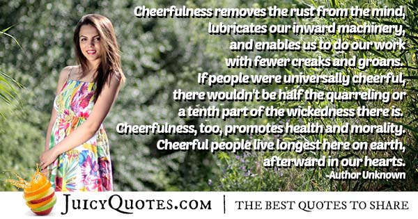 Cheerfulness and the Mind Quote