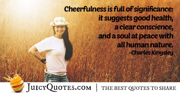 Be Cheerful Quote