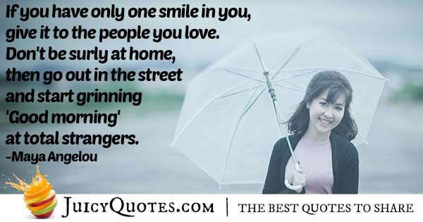Give a Smile Quote