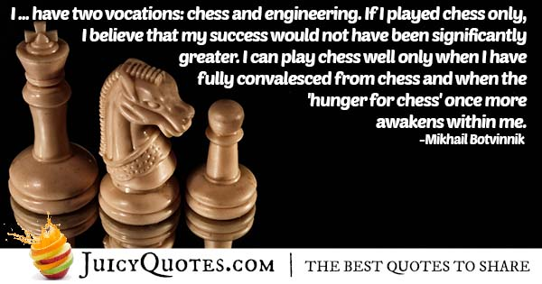 Playing Chess Quote