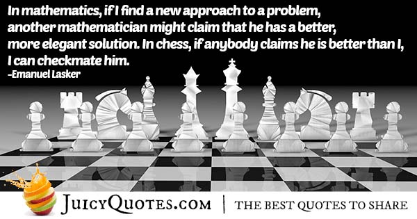 Mathematicians and Chess Quote