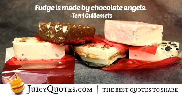 Chocolate Angels Quote